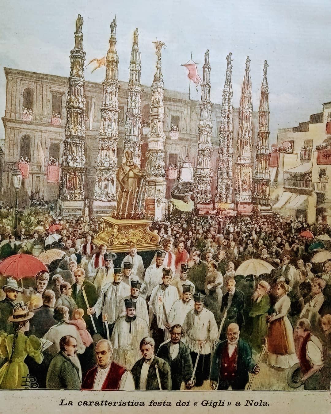 Festa dei Gigli a Nola, 1896