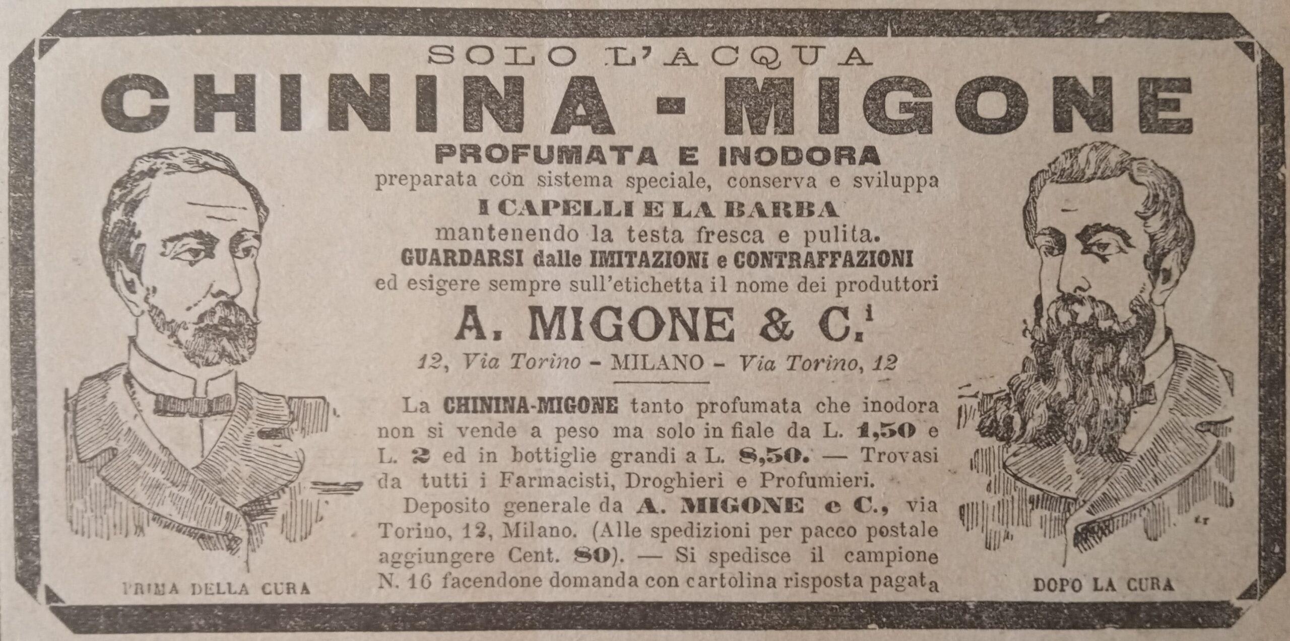 Chinina Migone - pubblicità