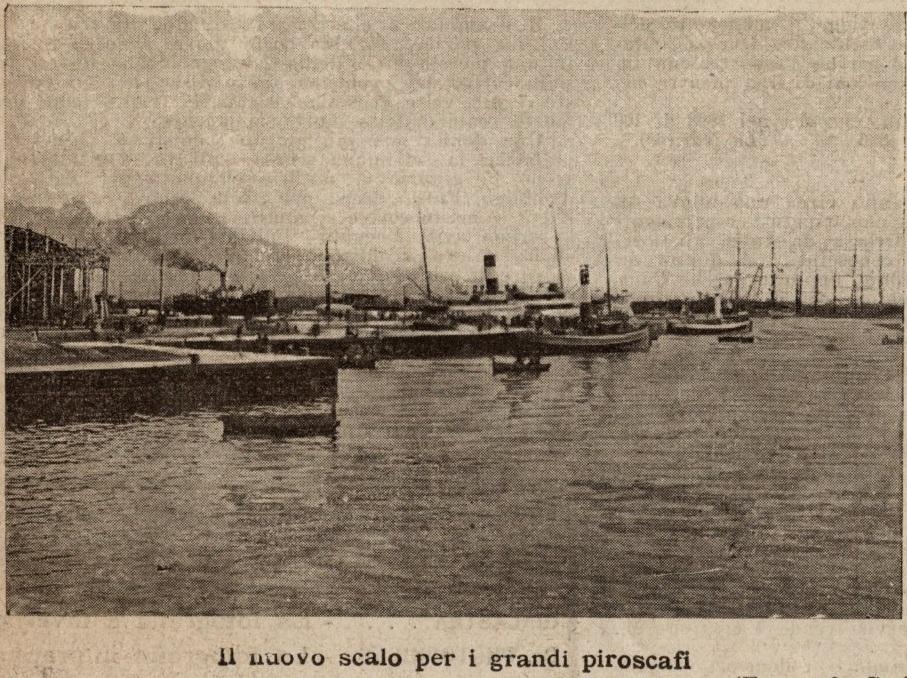 Napoli 1907 - Nuovo scalo per i grandi piroscafi