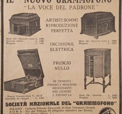 """Il """"Nuovo Grammofono"""" – """"La Voce del Padrone"""""""