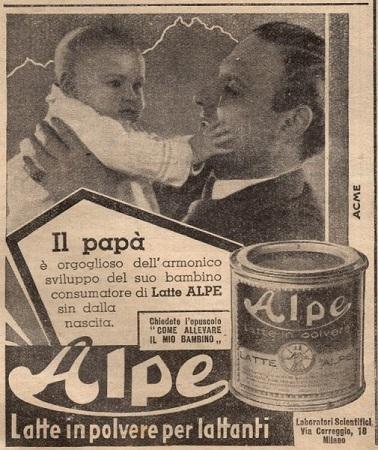 Alpe - Latte in polvere per lattanti - 1938