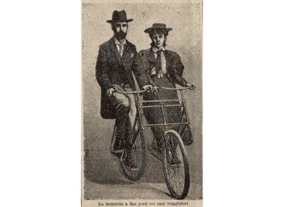 La bicicletta a due posti.