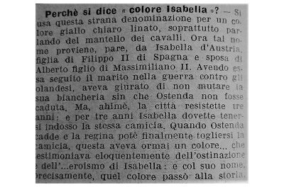 Perchè si dice « colore Isabella »?
