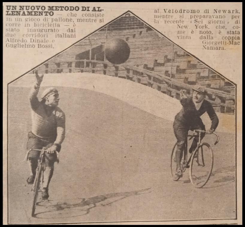 nuovo metodo di allenamento con la palla in bicicletta