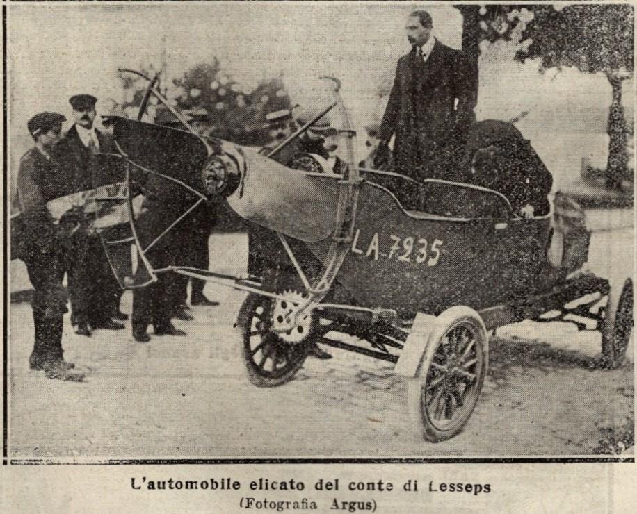 Automobile elicato del conte Lesseps