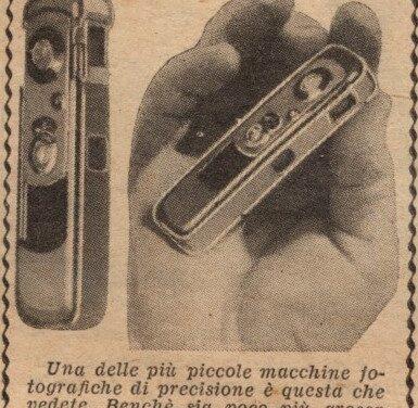 La più piccola macchina fotografica?